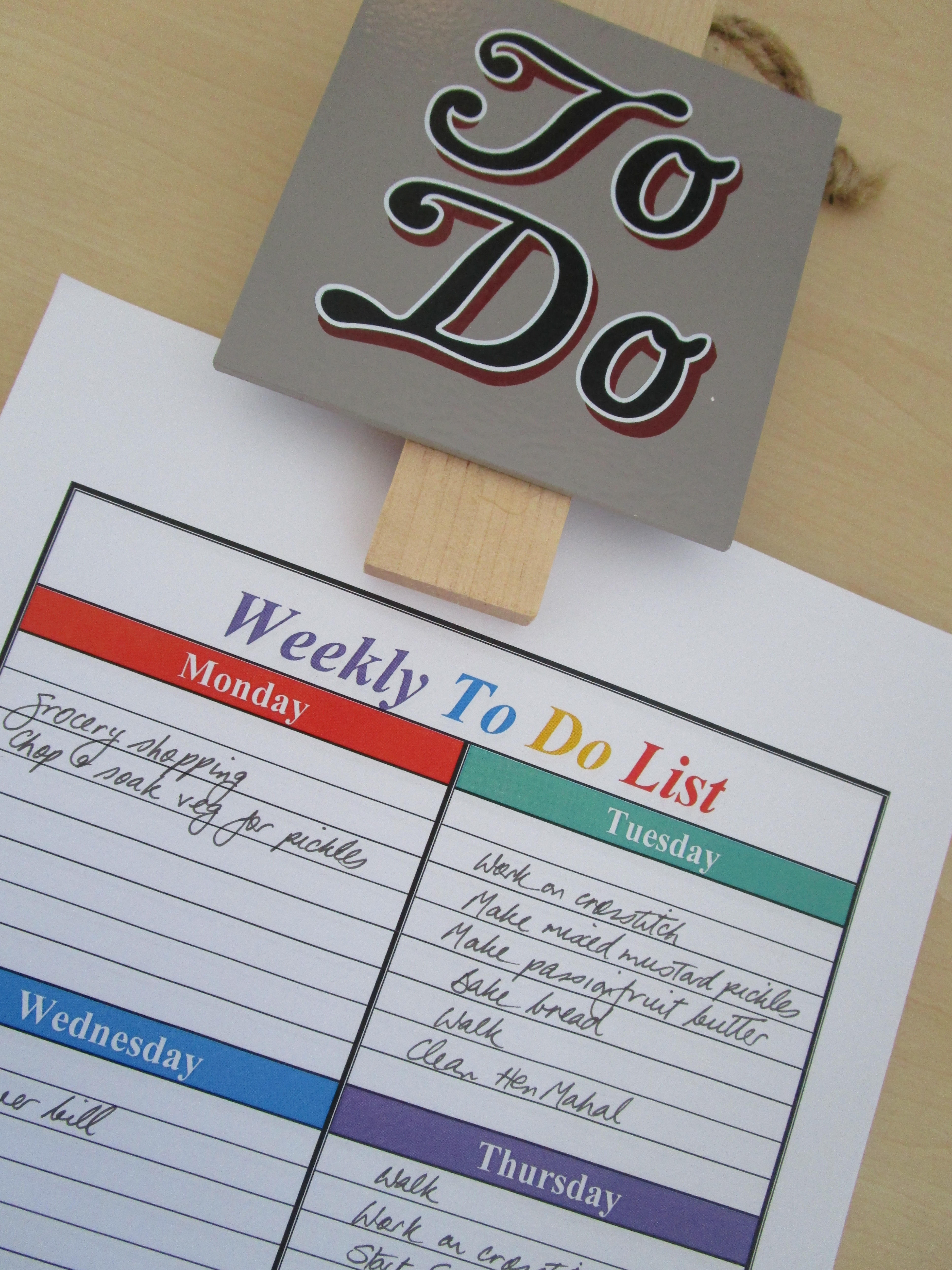 In praise of the to-do list